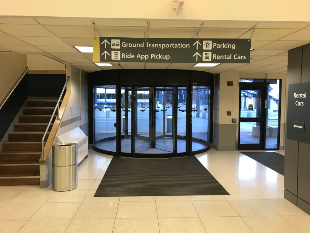signs to car rental facility