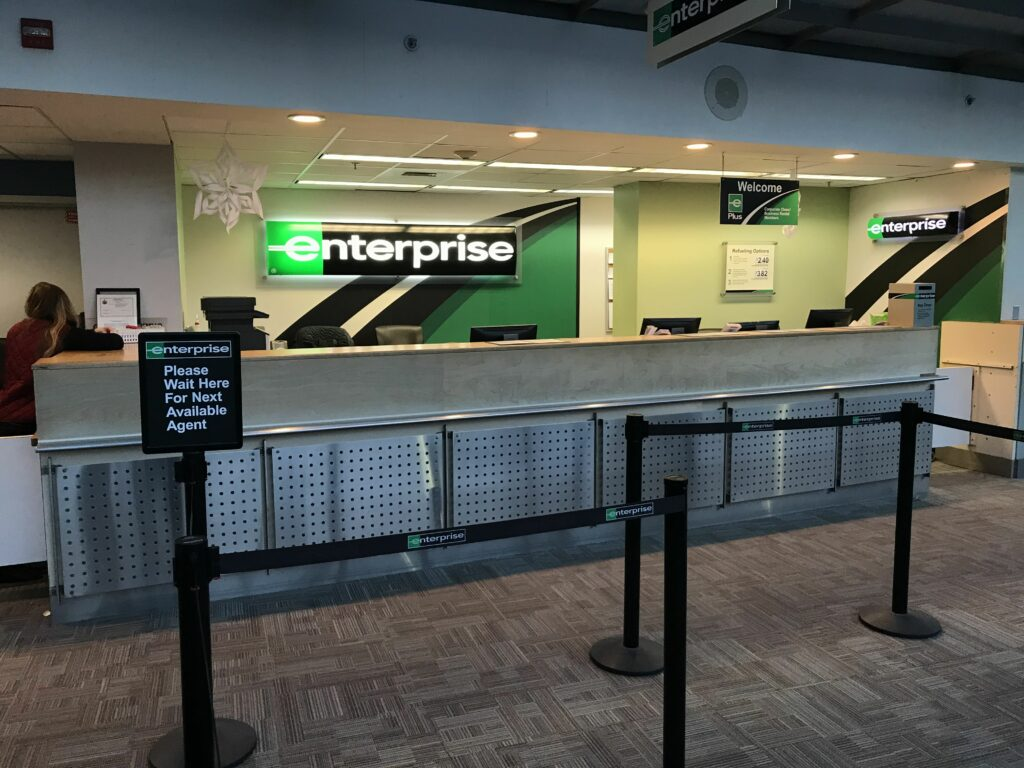 enterprise rental counter