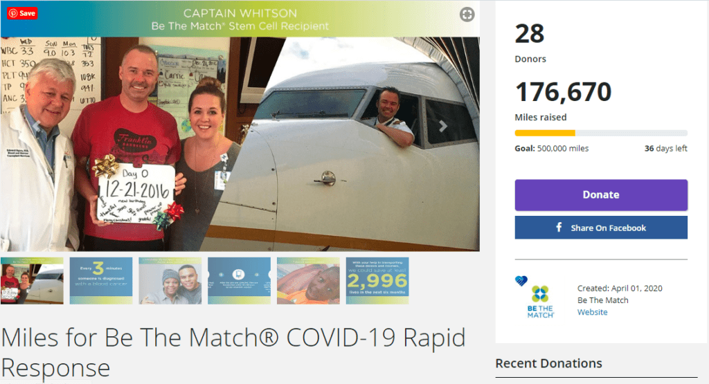 COVID Donation United Airlines