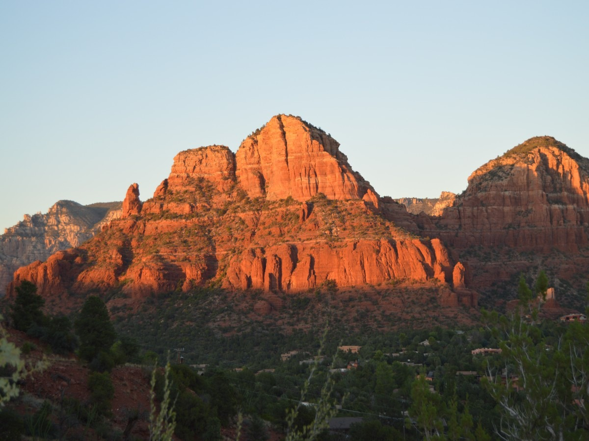 Red rocks at sunset in Sedona