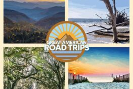 Four images of Charleston South Carolina Road Trip Ideas