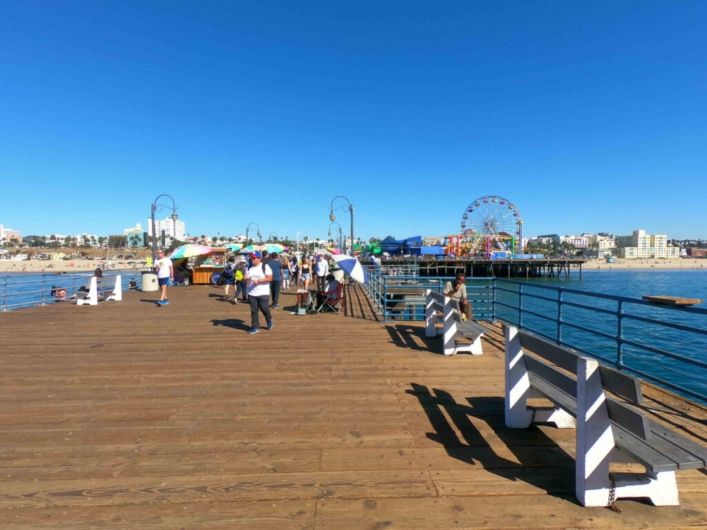 Santa Monica pier Los Angeles, California