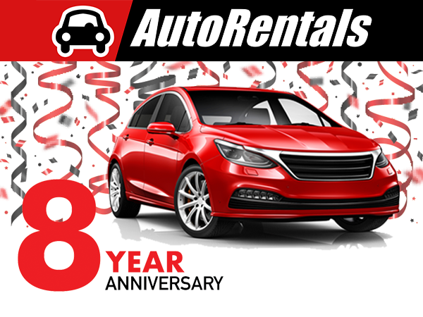 AutoRentlals.com 8th Anniversary